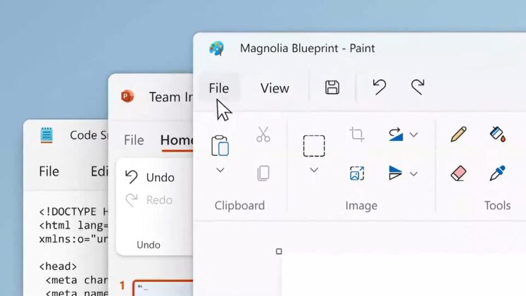 Paint and Notepad on Windows 11